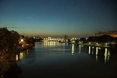 Guadalquivir in the evening from San Telmo, facing Triana