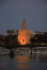 Torre del Oro #2, Evening from Calle Betis