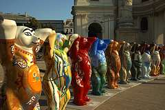World Bears in front of Karlskirche